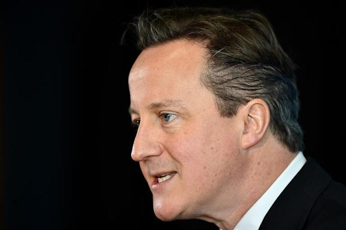Prime Minister David Cameron vowed that Britain would push for tougher sanctions against Moscow if the Ukraine-Russia truce crumbles (AFP Photo/Ben Stansall)