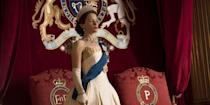 """<p>Even though Netflix is notoriously tight-lipped about viewing numbers, the streaming giant has described <em>The Crown</em> as """"very popular."""" What's more, the <a href=""""https://rts.org.uk/article/streaming-facts-fiction"""" rel=""""nofollow noopener"""" target=""""_blank"""" data-ylk=""""slk:Royal Television Society"""" class=""""link rapid-noclick-resp"""">Royal Television Society</a> reported that in November and December 2016, nine percent of Netflix users watched <em>The Crown. </em>That may not seem like a lot, but to put the number in perspective, that means it beat out hits like <em>Breaking Bad</em>, <em>Orange Is the New Black,</em> and <em>Gilmore Girls</em>.</p>"""