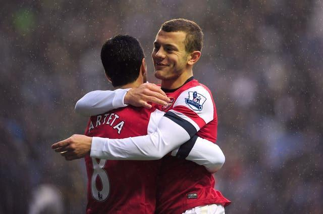 Arteta and Wilshere were team-mates in the Arsenal midfield.