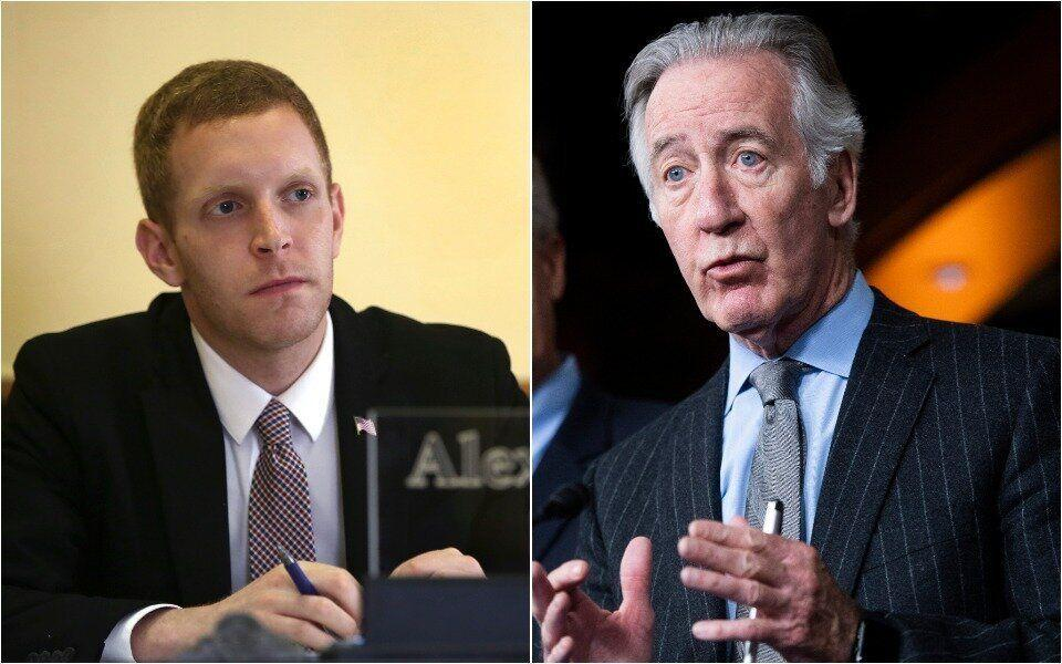 Holyoke Mayor Alex Morse's (left) challenge against House Ways and Means Chairman Richard Neal, right, has prompted millions of dollars in spending. (Photo: Getty Images)