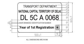 Only authorised vehicle dealers to issue high-security number plates, hologram stickers