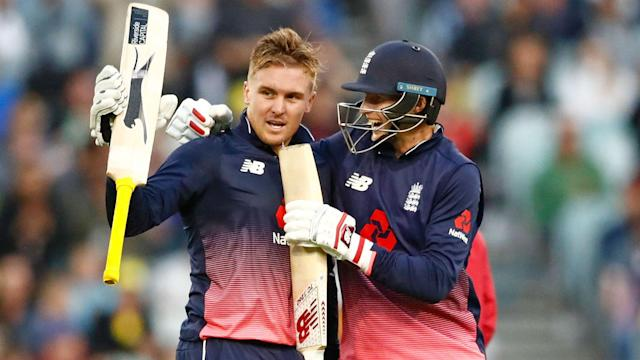 England got the post-Ashes boost they were hoping for in Melbourne as Jason Roy put Australia to the sword with a stunning 180.
