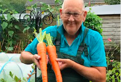 Gerald Stratford went viral on Twitter after posting pictures of his amazing vegetables. (Image supplied Gerald Stratford)