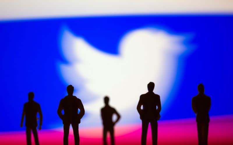 FILE PHOTO: Illustration picture of Twitter logo