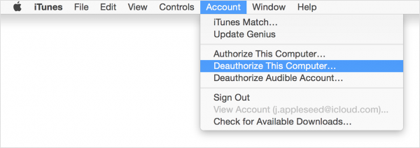 how to delete a device on itunes account