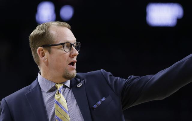Toronto assistant Nick Nurse's star is rising. (AP)