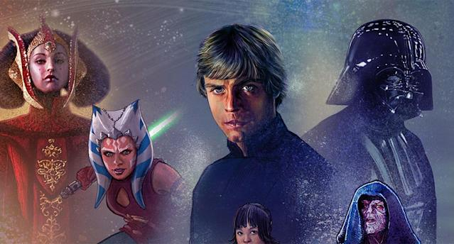 Detail from the Star Wars page on Disney+.