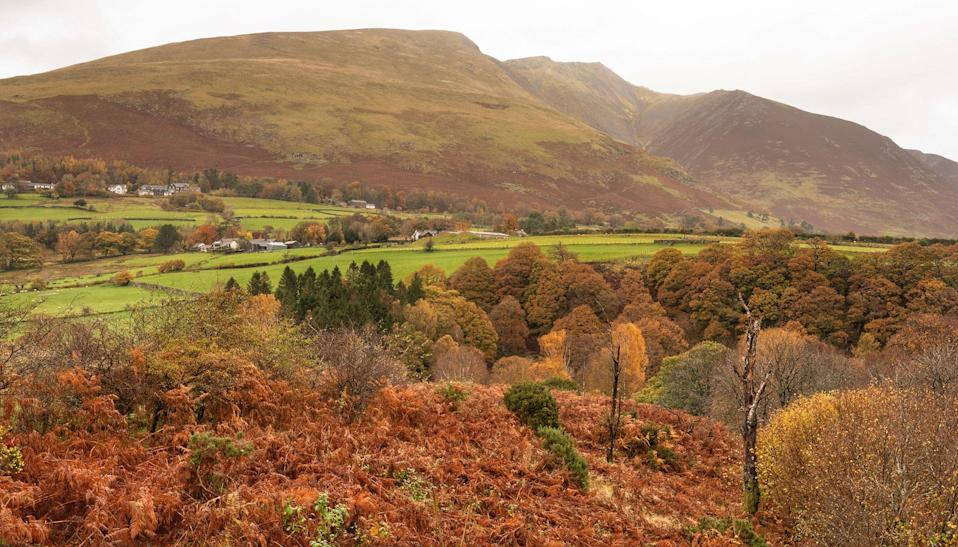The autumn view out to Blencathra, also called Saddleback, which is located near Keswick in the Lake District.  (PA)