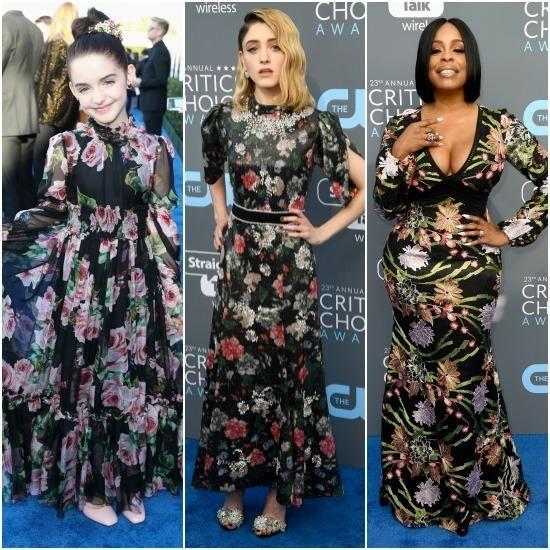 And no red carpet would be complete without a bit of flower power, which Stranger Things actress Natalia Dyer, comedian and actress Niecy Nash and Crash & Bernstein star Mckenna Grace donning floral gowns. Photo: Getty Images