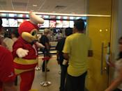 Jollibee is the largest and most popular fast food chain in the Philippines, with 780 stores nationwide.