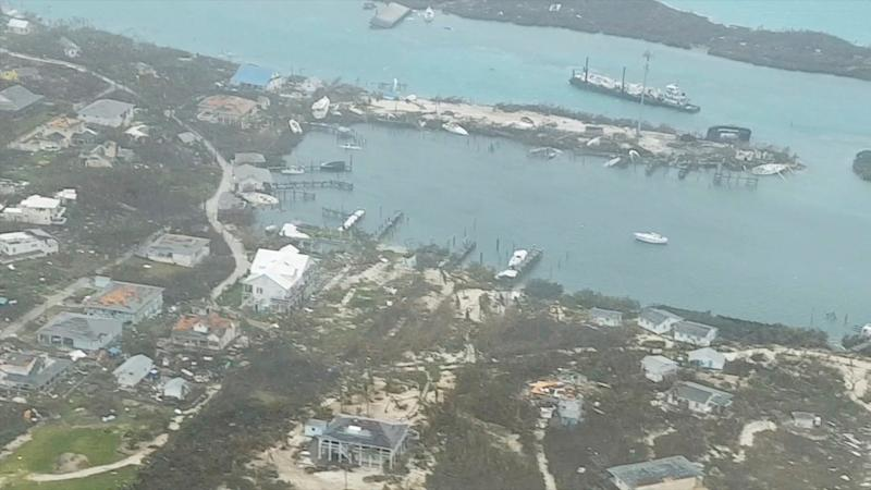 An aerial view shows devastation after hurricane Dorian hit the Abaco Islands in the Bahamas, September 3, 2019, in this still image from video obtained via social media. (Photo: Terran Knowles/Our News Bahamas/via Reuters)