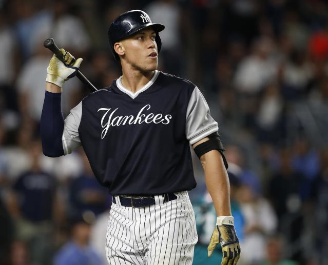 Aaron Judge hasn't been able to recapture the magic of his excellent first half. (Getty Images)