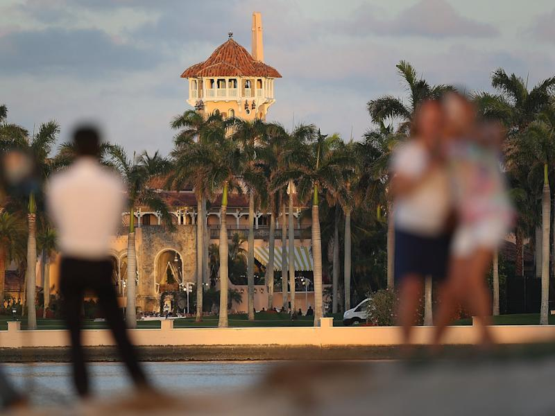 The Mar-a-Lago resort in Florida, one of Donald Trump's 15 golf courses. The president has lost more than $315.6m on his golf courses since the year 2000. (Joe Raedle/Getty Images)