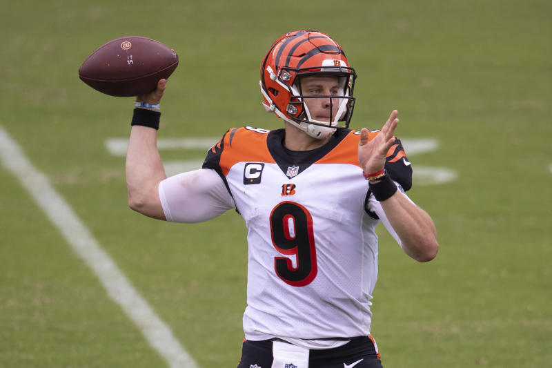 Joe Burrow #9 of the Cincinnati Bengals