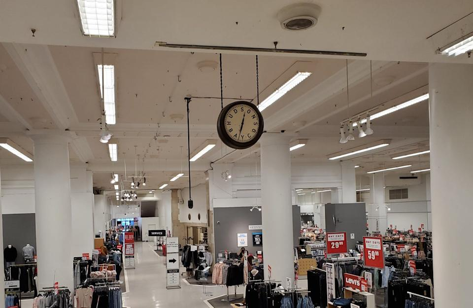 A photograph of the interior of a department store