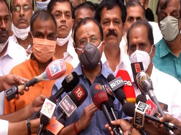 Minister of State for External Affairs V Muraleedharan speaking to the media. (Photo/ANI)