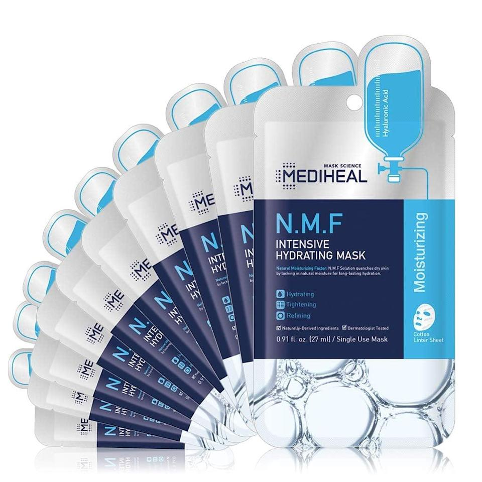 <p><span>MEDIHEAL Official [Korea's No 1 Sheet Mask] - N.M.F Intensive Hydrating Mask (10 Masks)</span> ($12, originally $20)</p>