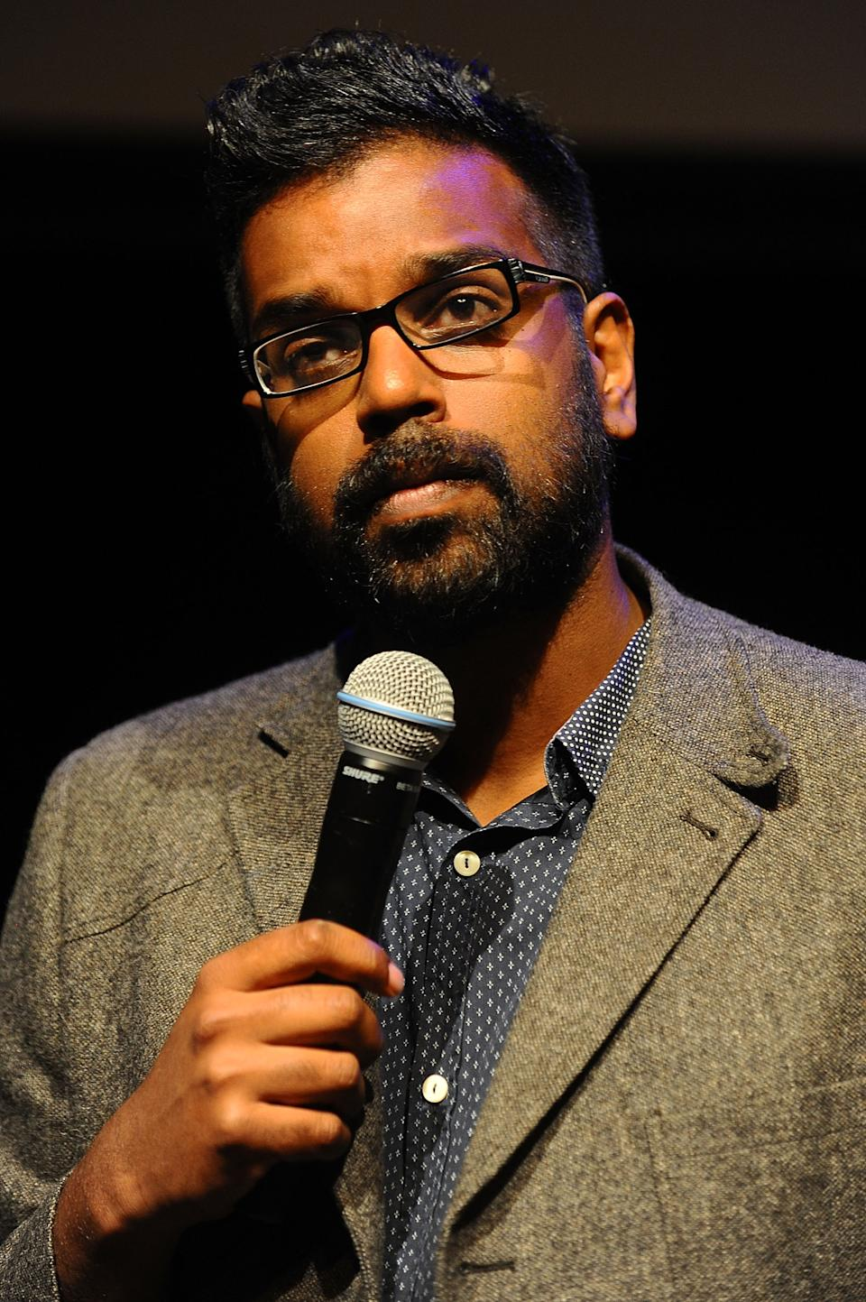 EDINBURGH, SCOTLAND - JULY 31:  Romesh Ranganathan performs during the Underbelly Press Launch at The Edinburgh Festival Fringe on July 31, 2013 in Edinburgh, Scotland.  (Photo by Scott Campbell/Getty Images)