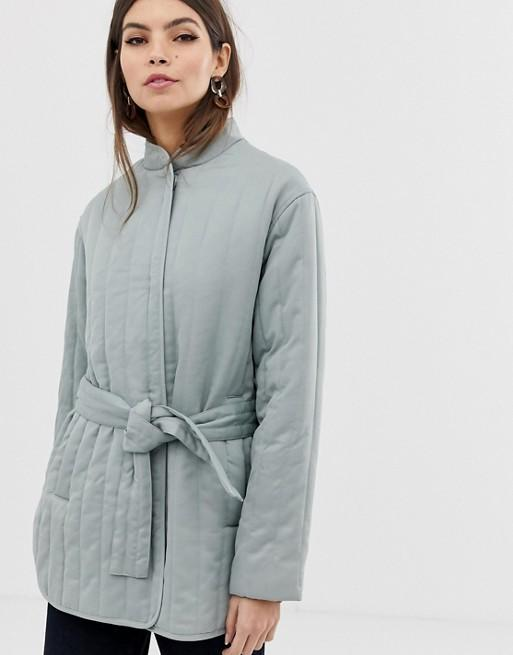 """<br><br><strong>ASOS DESIGN</strong> Quilted Padded Jacket, $, available at <a href=""""https://www.asos.com/asos-design/asos-design-quilted-padded-jacket/prd/10827389?clr=mint&SearchQuery=quilted%20jacket&gridcolumn=4&gridrow=1&gridsize=4&pge=1&pgesize=72&totalstyles=169"""" rel=""""nofollow noopener"""" target=""""_blank"""" data-ylk=""""slk:ASOS"""" class=""""link rapid-noclick-resp"""">ASOS</a>"""