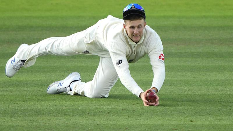 Joe Root, pictured here taking the controversial catch. (Photo by Stu Forster/Getty Images)