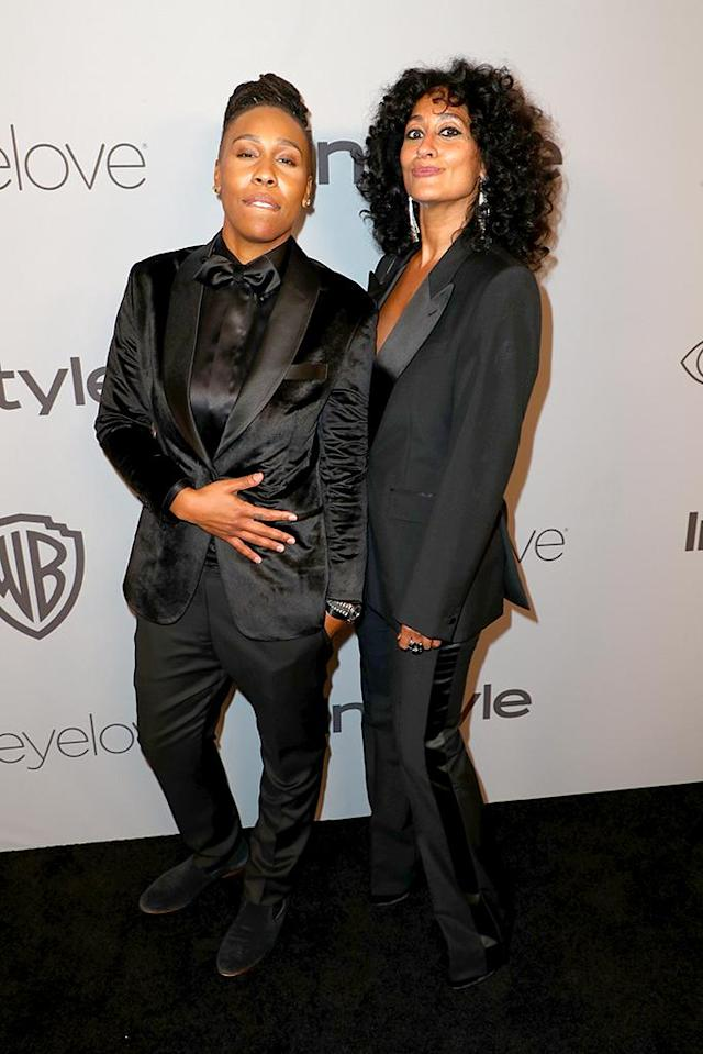 <p>Lena Waithe and Tracee Ellis Ross attend the 2018 InStyle and Warner Bros. party together. (Photo: Joe Scarnici/Getty Images for InStyle) </p>