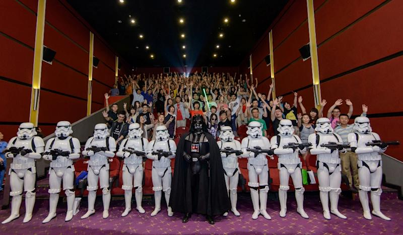 "The Shanghai International Film Festival is showing all six ""Star Wars"" films this week, including the first screenings in mainland Chinese theatres of the original trilogy, festival organisers said (AFP Photo/Walt Disney Studios China)"