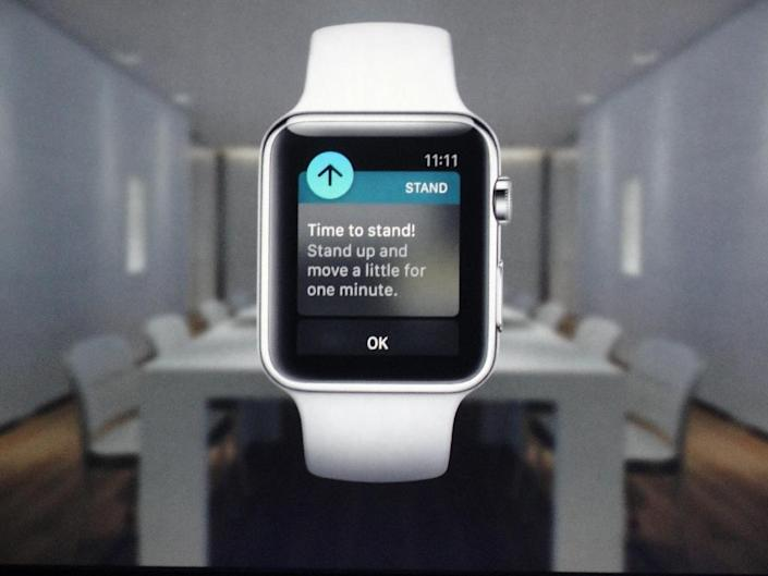 A screen shot of the new Apple Watch after Apple chief executive Tim Cook unveiled it during a media event on March 9, 2015 in San Francisco (AFP Photo/Glenn Chapman)