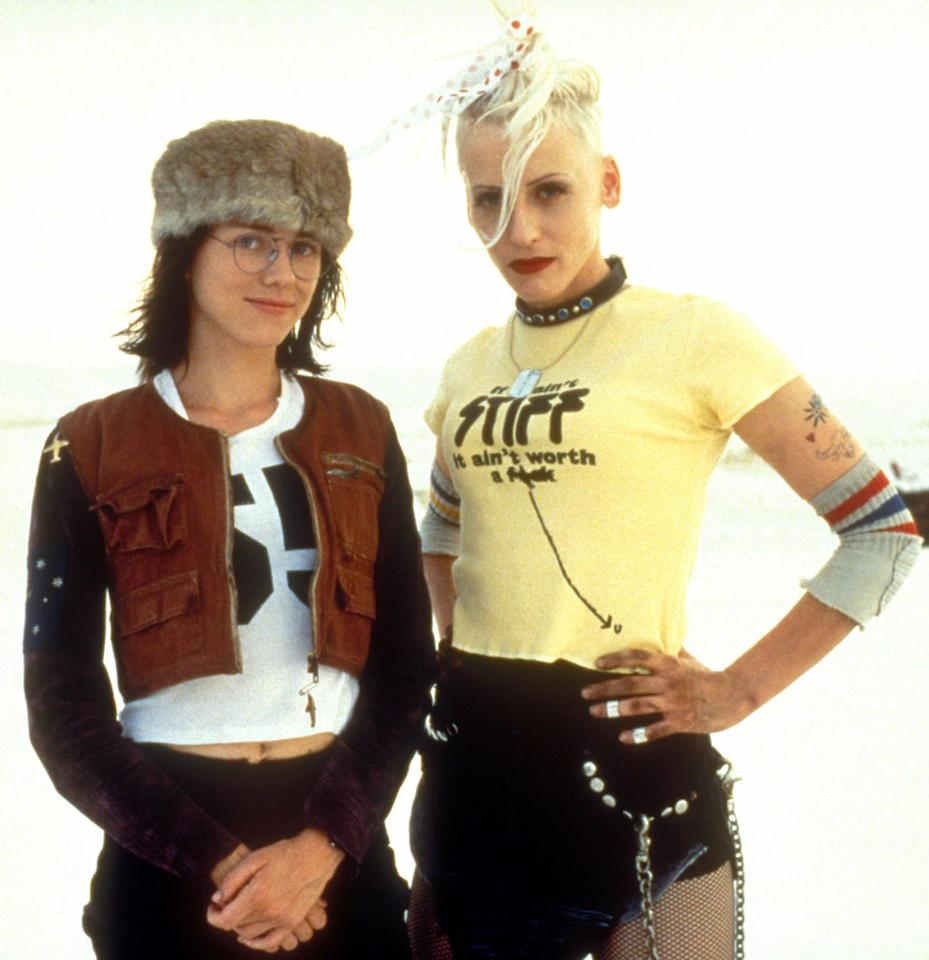 "<b>'Tank Girl'<br></b>A Best Actress Oscar nominee this year, Naomi Watts (left) also starred in the 1995 sci-fi-horror-comedy ""Tank Girl"" with Lori Petty and Ice-T."