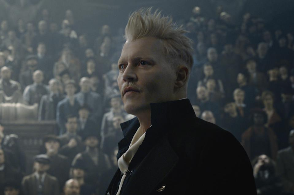Johnny Depp as Gellert Grindelwald in <i>Fantastic Beasts: The Crimes of Grindelwald</i> (Warner Bros.)