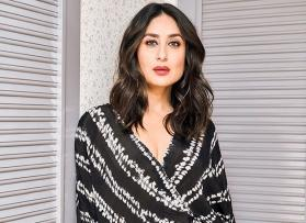 Kareena Kapoor Khan looks like the queen of casuals in this monochrome wrap dress
