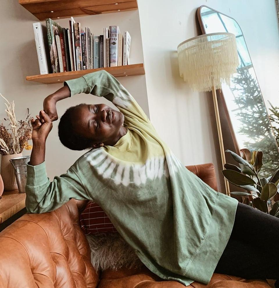 """<p><strong>The item:</strong> <span>Old Navy Oversized Specially Dyed Tunic Sweatshirt</span> ($18-$25, originally $40) </p> <p><strong>What our editor said: </strong>""""The top looks put-together enough for Zoom meetings, but let's be real, our work uniform is pretty much the same as what we wear around the house now. So I've worn the sweatshirt on work calls, to lounge on my couch, and to sleep."""" - Shelcy Joseph, assistant editor, Shop</p> <p>If you want to read more, here is the <a href=""""http://www.popsugar.com/fashion/old-navy-tie-dye-sweatshirt-review-48063841"""" class=""""link rapid-noclick-resp"""" rel=""""nofollow noopener"""" target=""""_blank"""" data-ylk=""""slk:complete review"""">complete review</a>.</p>"""