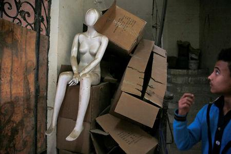 A mannequin is seen at a workshop in El Kharqanya village, El-Kalubia governorate, north of Cairo, Egypt, March 23, 2017. REUTERS/Amr Abdallah Dalsh