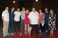 <p>The whole crew - well, minus Harry, Hermione and Ron, specifically, but including Hagrid - reunited for the grand opening of The Wizarding World of Harry Potter Diagon Alley in Orlando in June 2014.</p>