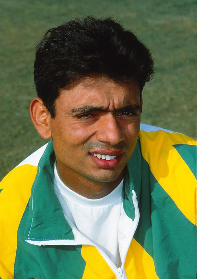 AUSTRALIA - UNDATED: A portrait of Saqlain Mushtaq of Pakistan. (Photo by Getty Images)