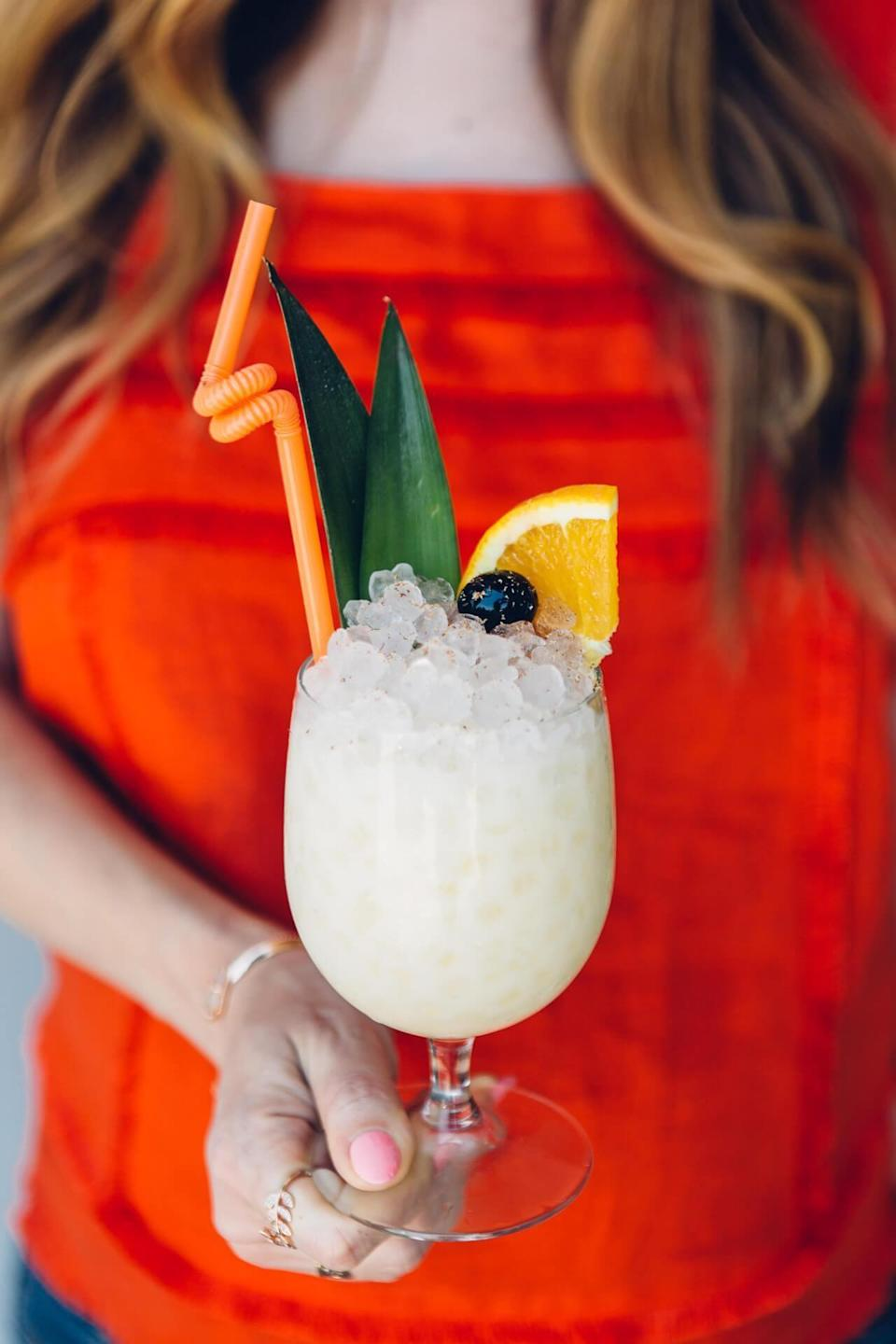 """<p>Mississippi, we feel you. This twist on the piña colada is made with pineapple juice, coconut cream, and orange juice, bringing the tropics right to your glass! Add as much rum as you please to make it complete.</p> <p><strong>Get the recipe</strong>: <a href=""""https://www.popsugar.com/buy?url=https%3A%2F%2Fmlovesm.com%2F2016%2F07%2F3-summer-mocktails%2F&p_name=painkiller&retailer=mlovesm.com&evar1=yum%3Aus&evar9=47471653&evar98=https%3A%2F%2Fwww.popsugar.com%2Ffood%2Fphoto-gallery%2F47471653%2Fimage%2F47474529%2FMississippi-Painkiller&list1=cocktails%2Cdrinks%2Calcohol%2Crecipes&prop13=api&pdata=1"""" class=""""link rapid-noclick-resp"""" rel=""""nofollow noopener"""" target=""""_blank"""" data-ylk=""""slk:painkiller"""">painkiller</a></p>"""