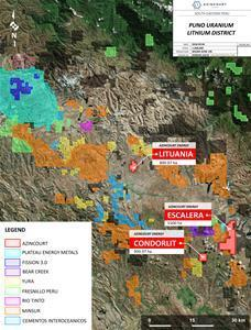 Figure 2: Azincourt projects and nearby projects in the Puno District, Southeastern Peru