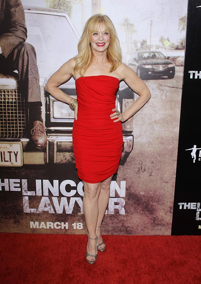 """<a href=""""http://movies.yahoo.com/movie/contributor/1800019503"""">Frances Fisher</a> at the Los Angeles premiere of <a href=""""http://movies.yahoo.com/movie/1810088161/info"""">The Lincoln Lawyer</a> on March 10, 2011."""