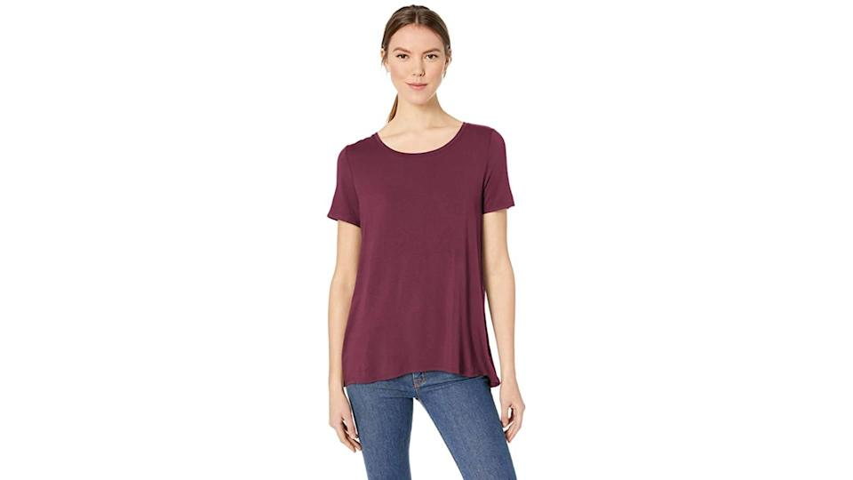 Amazon Essentials Relaxed Fit Scoop Neck Swing Tee (Photo: Amazon)