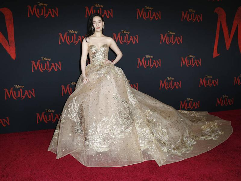 Yifei Liu channels inner Disney princess at Mulan premiere