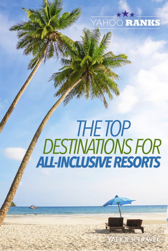 Yahoo ranks the top destinations for all inclusive resorts for Worry free vacations all inclusive