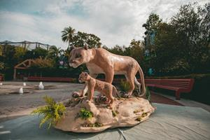 To raise awareness about Florida's climate crisis, The CLEO Institute has partnered with Miami ad agency Zubi to show Floridians just how quickly their state's swiftly rising temperatures can melt a wax sculpture. The latest sculpture is a Florida Panther mother and cub. It will be on display at ZooTampa starting Friday, Sept. 18. PHOTO/ Zubi (José Seijo & Sebastian Fernandez), Coral Gables COPYRIGHT: Zubi