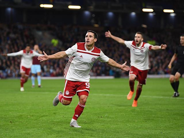 Olympiakos knock Burnley out of the Europa League despite Matej Vydra's debut goal