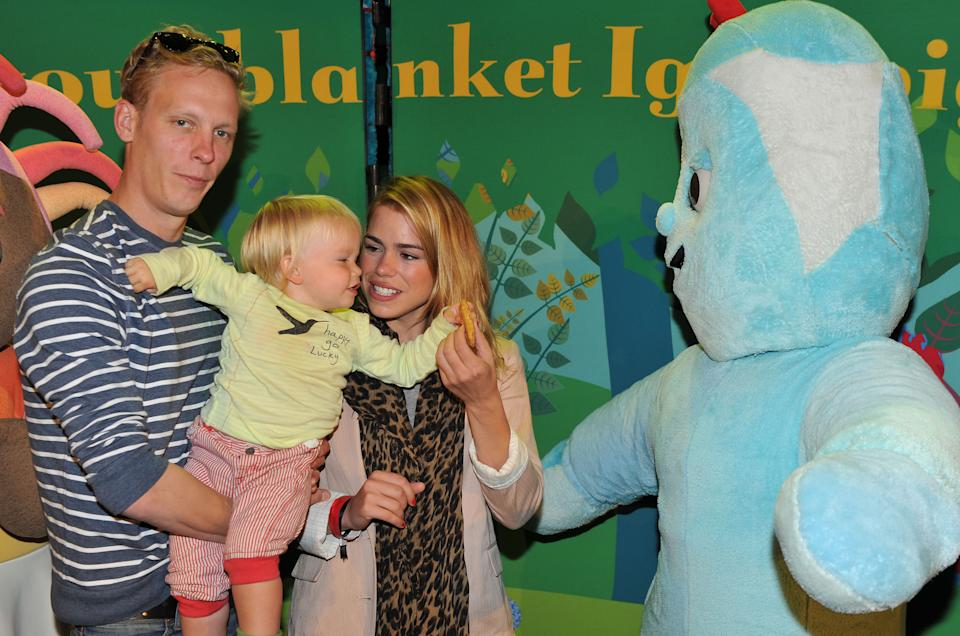 LONDON, UNITED KINGDOM - AUGUST 15: (EXCLUSIVE ACCESS)Laurence Fox, Billie Piper and son Winston attend In The Night Garden...Live at the O2 on August 15, 2010 in London, England. (Photo by Jon Furniss/WireImage)