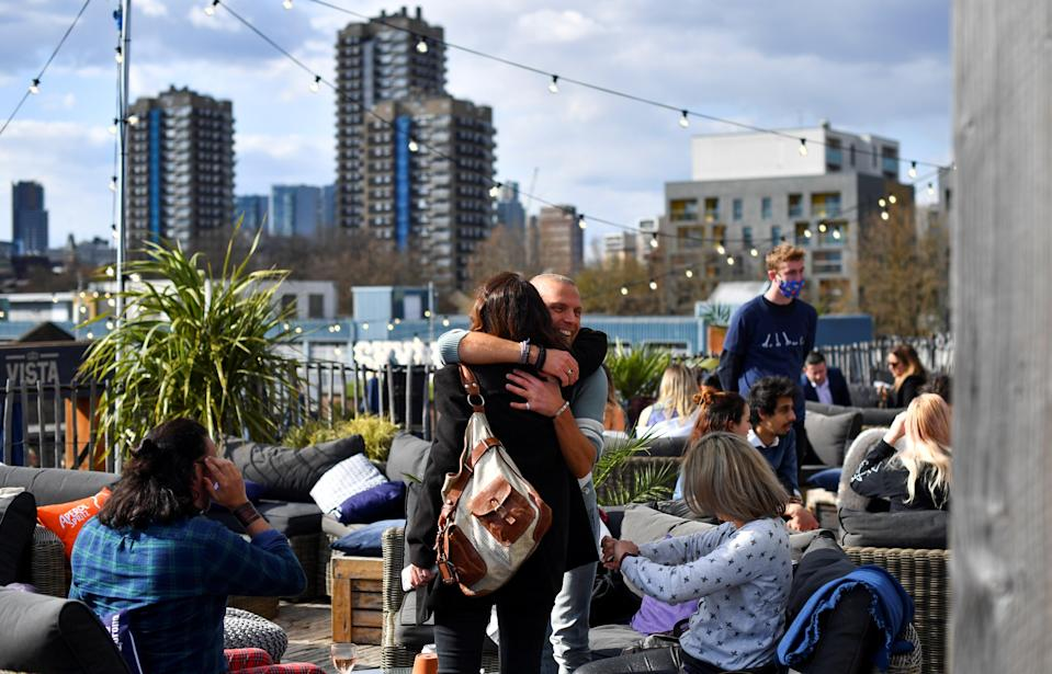<p>No coronavirus-related deaths were recorded in the three nations for the first time in almost a year</p> (REUTERS)