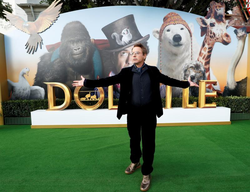 "Cast member Robert Downey Jr. attends the premiere for the film ""Dolittle"" in Los Angeles, California, U.S., January 11, 2020. REUTERS/Mario Anzuoni"