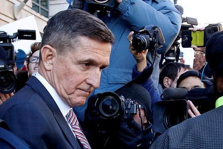 FILE PHOTO: Former U.S. national security adviser Flynn departs after sentencing hearing at U.S. District Court in Washington