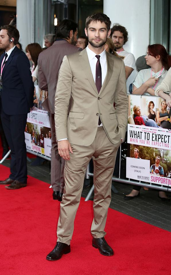 LONDON, ENGLAND - MAY 22:  Chase Crawford attends the UK film premiere of 'What To Expect When You're Expecting' at BFI IMAX on May 22, 2012 in London, England.  (Photo by Tim Whitby/Getty Images)