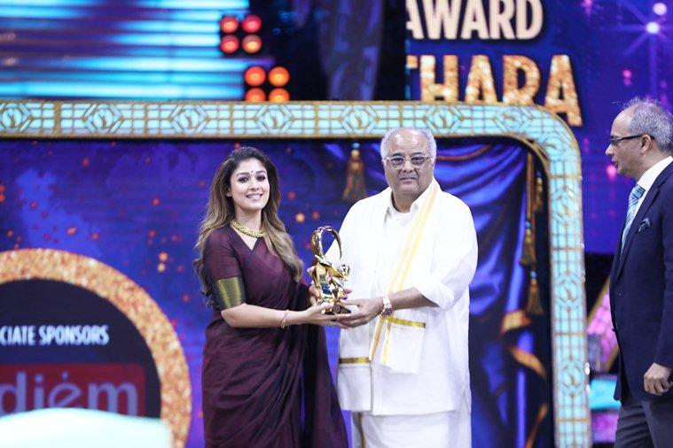 Nayanthara at Zee Tamil cinema awards