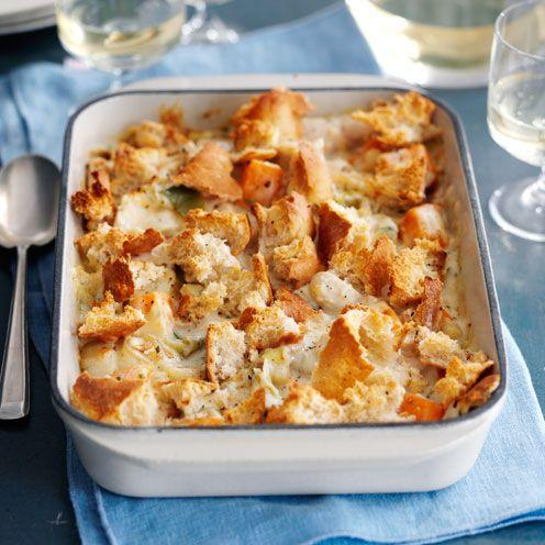 """<p>This creamy dish is comfort food at its best.</p><p><strong>Recipe: <a href=""""https://www.goodhousekeeping.com/uk/food/recipes/a535001/chicken-and-squash-gratin/"""" rel=""""nofollow noopener"""" target=""""_blank"""" data-ylk=""""slk:Chicken and Squash Gratin"""" class=""""link rapid-noclick-resp"""">Chicken and Squash Gratin</a></strong></p>"""