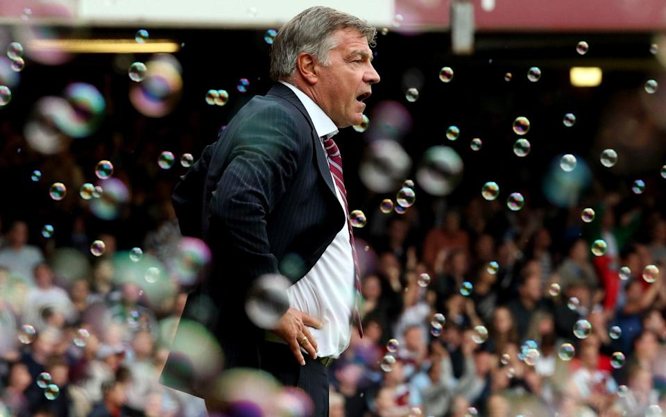 West Ham manager Sam Allardyceduring the Barclays Premier League match between West Ham United and Everton - GETTY IMAGES